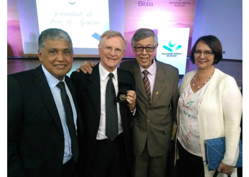 Cerimônia de posse de novo diretor da Sociedade Bíblica do Brasil (SBB) conta com a presença de representantes da Igreja